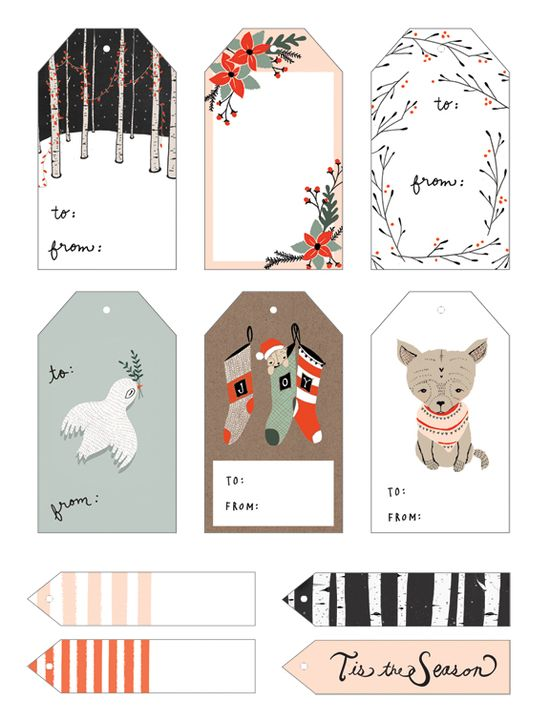 SO CUTE-FREE PRINTABLE CHRISTMAS GIFT TAGS