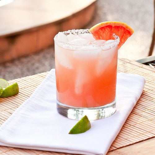 Grapefruit Margarita...If it tastes as good as it looks, it could become a new favorite!