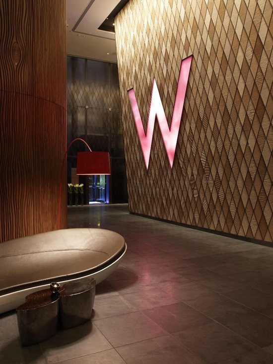 The W Starwood Hotels Lighting Logo Interior Design