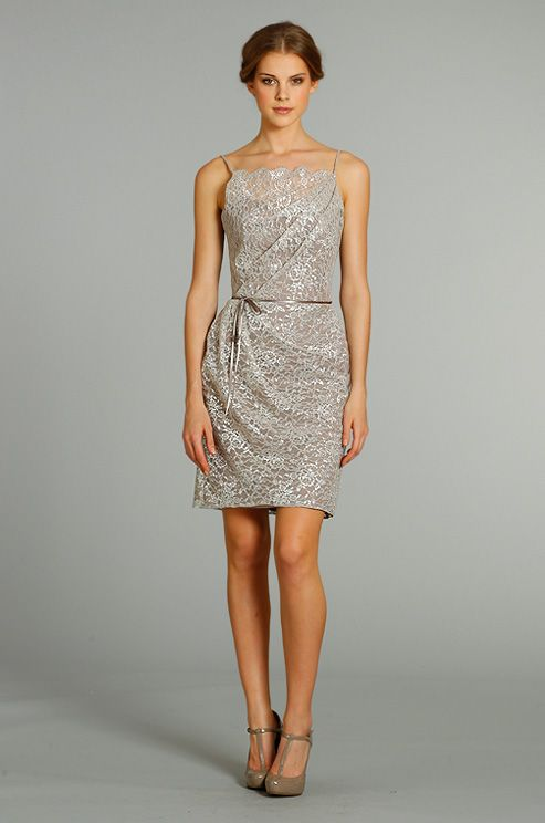 Metallic lace bridesmaid's dress from Alvina Valenta, Fall 2012