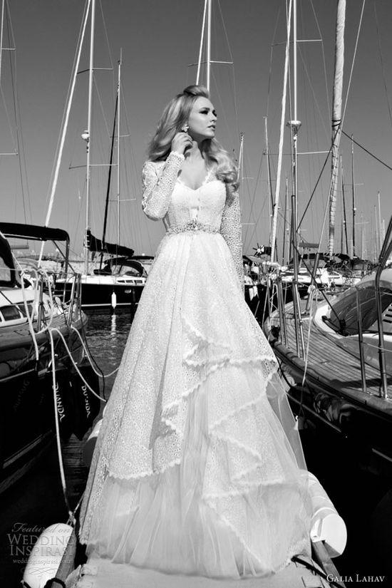 galia lahav 2013 2014 valentina long sleeve wedding dress