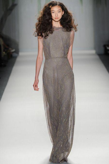 Jenny Packham Spring/Summer 2014  #jennypackham #nyfw #mbfw #springsummer #fashionweek #2014 #ss14 #fashion #catwalk #runway #fashionshow #model #DKNY #Catwalk