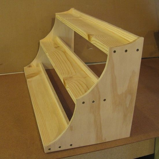 Portable Exhibition Shelves : Craft show display riser tall by wudls on etsy