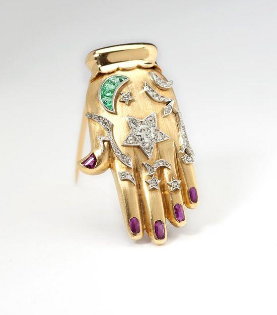 Cartier Hand Brooch