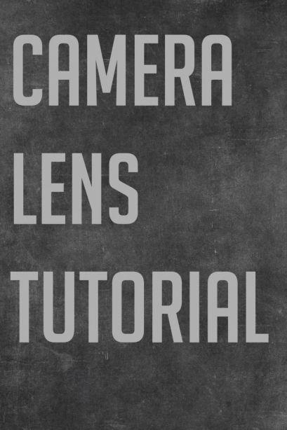 Lens tutorial for beginner photographers.