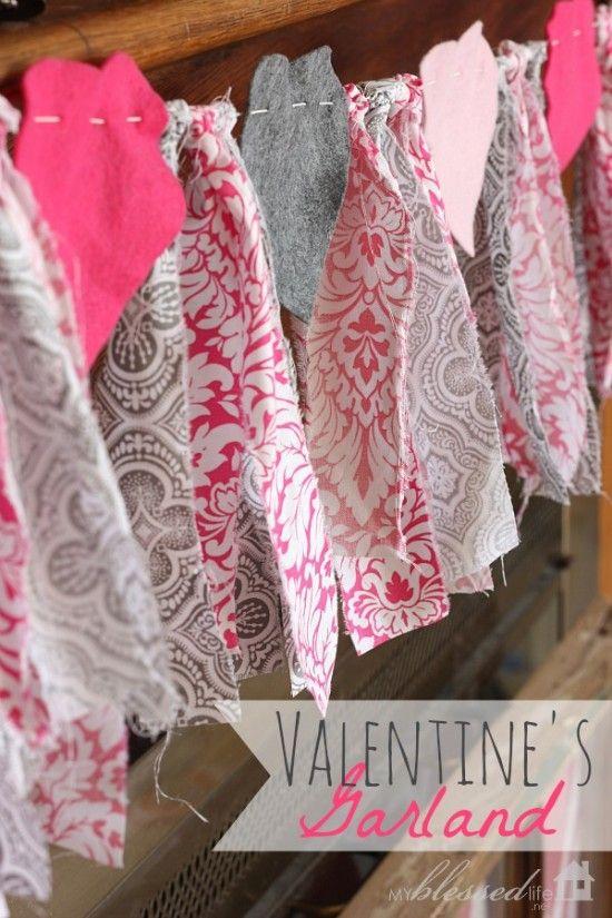 Easy Valentine's Day Garland