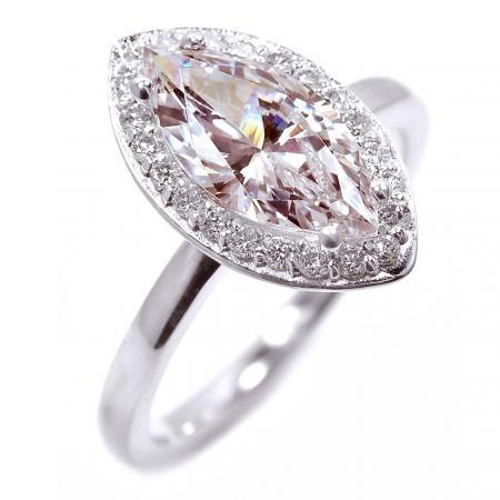 Marquise-cut pink diamond