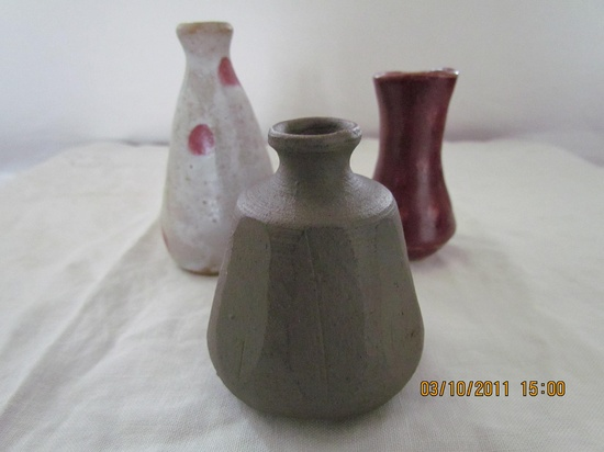 Handmade Pottery mini vase.