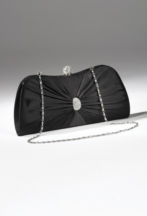 Handbags - Satin Handbag with Center Pleats from Camille La Vie and Group USA