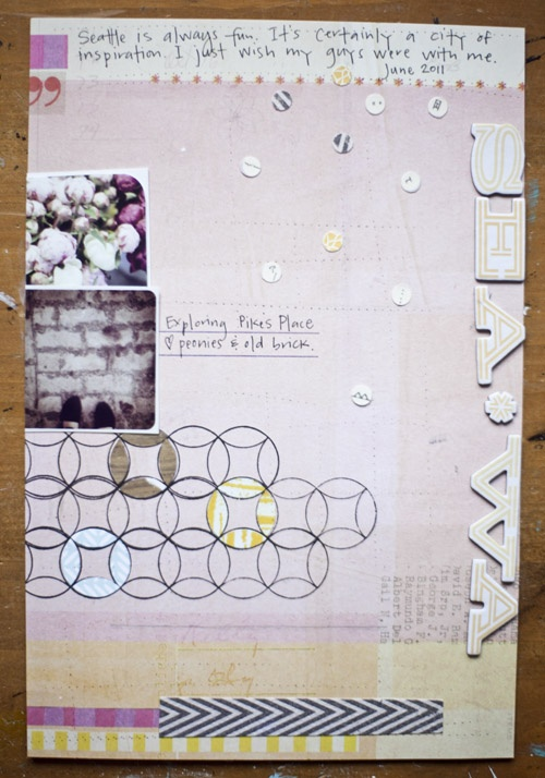 page by @Tina Aszmus featuring our MIND THE GAP kit