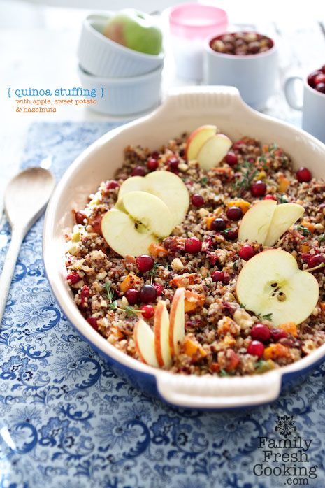 Quinoa Stuffing with Apple, Sweet Potato