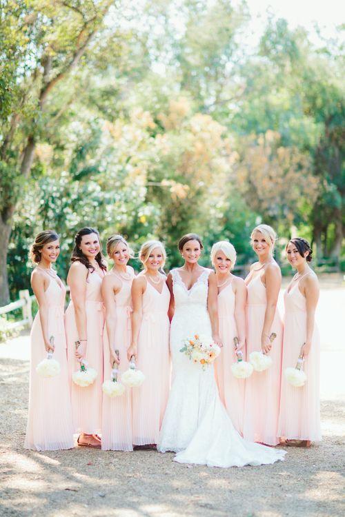 bride + bridesmaids