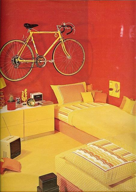 Orange room from Seventeen. April 1974