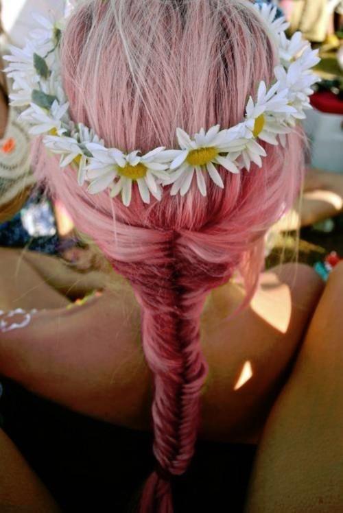pink fishtail braid