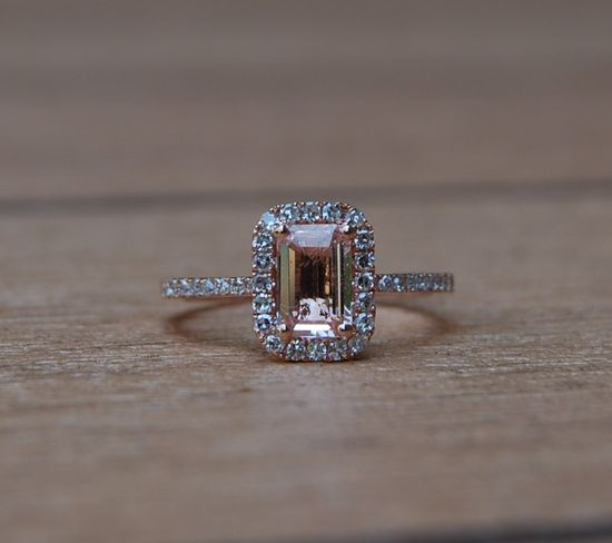 I know I say this all the time. But for real...this is the one!    Peach champaign sapphire and diamond rose gold ring.