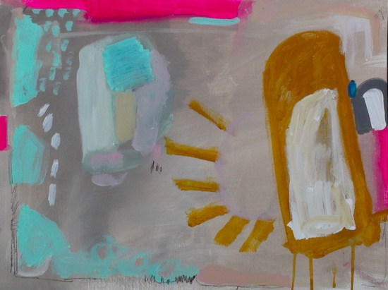 the last twinkie  18 x 24 acrylic and charcoal on heavy linen finish paper.