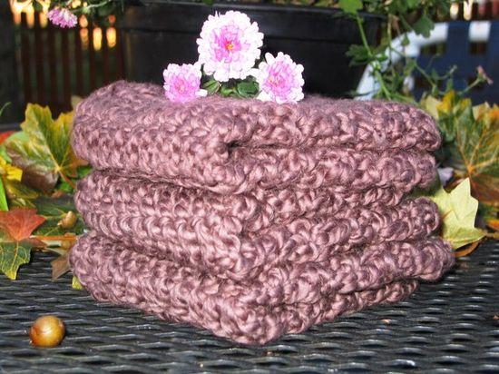 Organic Cotton Washcloths Dishcloths Spa by HandmadeByAnnabelle, $14.00