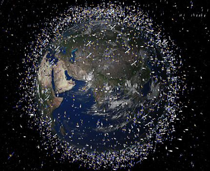 The European Space Agency (ESA) in Paris has released computer generated images of junk floating in space around Earth - more than 12,000 pieces of derelict junk.