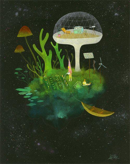 Paintings by Apak.