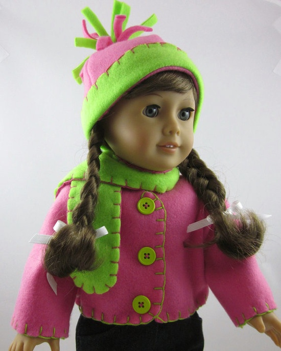 American Girl Doll Clothes   Fleece Jacket by SewMyGoodnessShop, $18.00