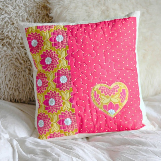 handmade quilted cushion