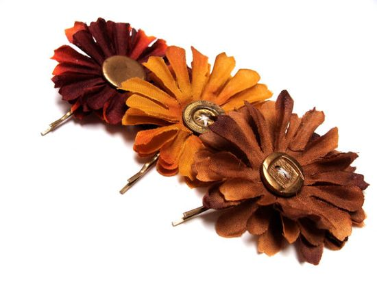 "Rustic Hair Accessories ""Love Me in the Fall"" ChatterBlossom via Etsy"