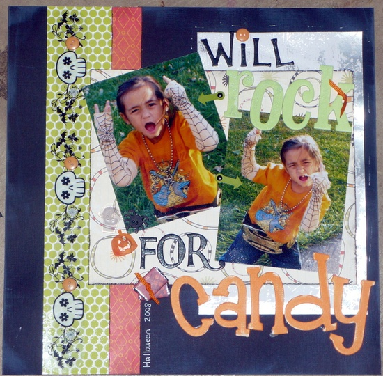 Will Rock For Candy - Scrapbook.com