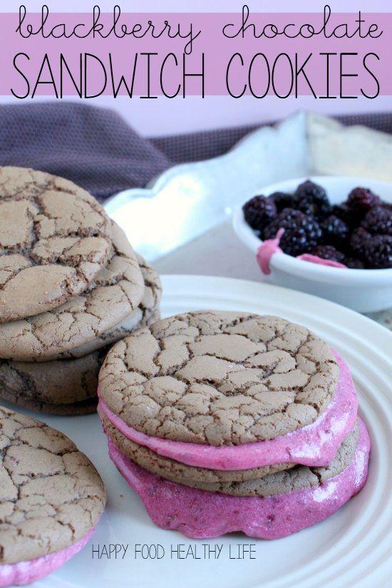 Blackberry Chocolate Sandwich Cookies