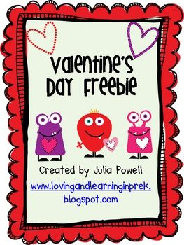 Roll and Graph activity for Valentine's Day.