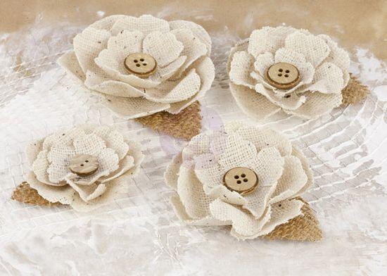 Prima  Flowers  Handmade Fabric FLowers     by SeptemberPlayground, $4.78