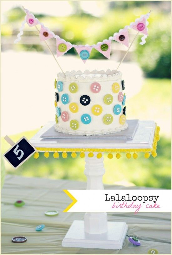 cute lalaloopsy party (love the button cake!) @sewcraftcreate #parties