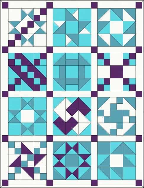 Patron de patchwork traditionnel et didacticiel (Partie 1)   Oh coudre tentant