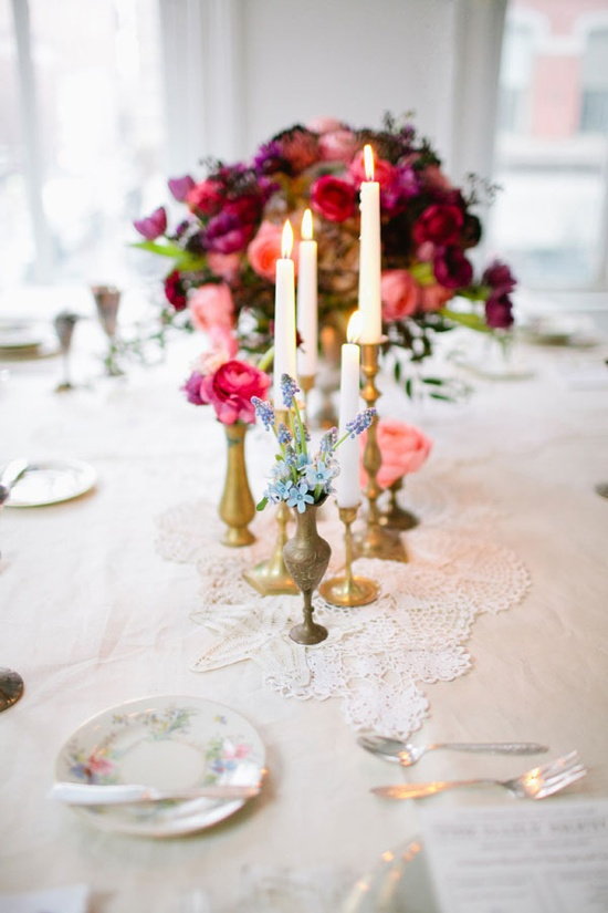 Such a romantic look! It's always a delight to see just a little bit of a different color ~ that catches your eye ... Floral Design by Rebecca Shepherd, Photography by Arielle Doneson, Event Design by Firefly Events
