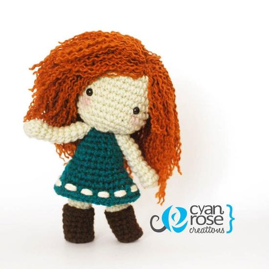 Merida Inspired Crochet Amigurumi Plush Doll - Inspired in the movie Brave