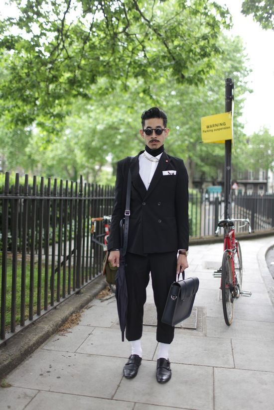 Outside London Men's Fashion Week Spring 2014