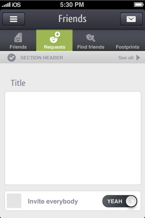 Friends for iPhone - UltraUI