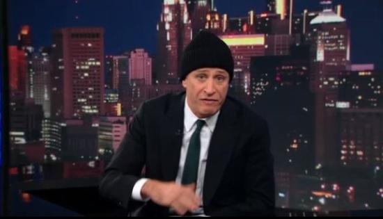 "Eminem: Watch Jon Stewart Rap Over Eminem's ""Lose Yourself"" (Video)"