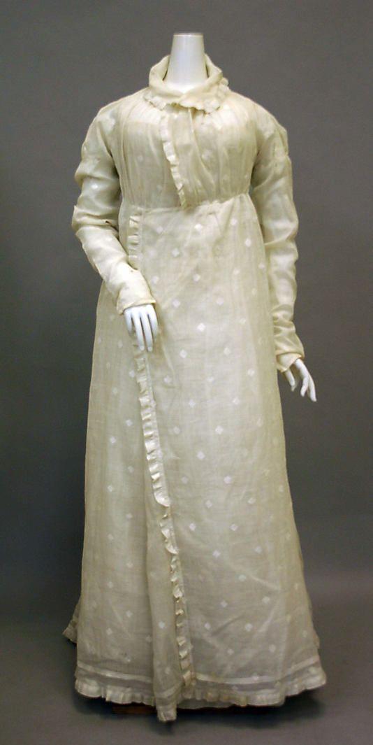 Morning dress c1810-20 American