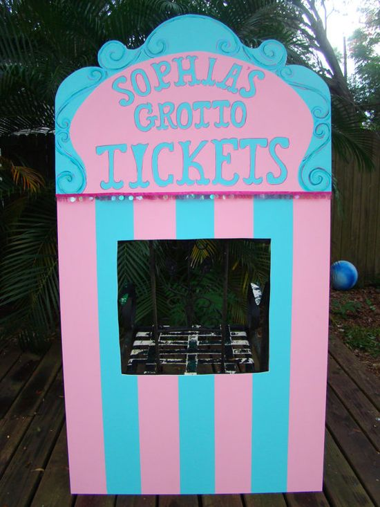 Carnival Ticket Booth  Carnival or Circus Themed by BlueGardenias, $120.00