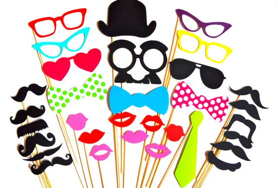 SALE  Perfect Photo Booth Props  32 piece prop by TheManicMoose, $34.00