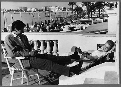 Alain Delon and Romy Schneider, Cannes - 1959 #frenchriviera