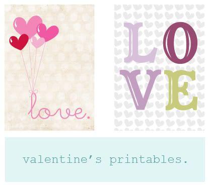 free Valentine's Day prints