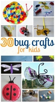 30 great bug crafts for kids-easy crafts with things you have in the house