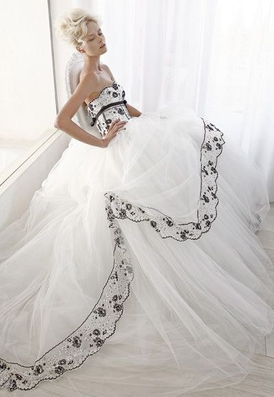 Black and White - Haute Couture Bridal Wedding Dress Collection