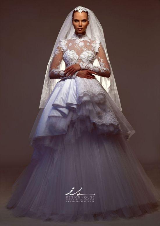 Innovative wedding dresses by IS Design House signed by the designer Ibrahim El Sharif