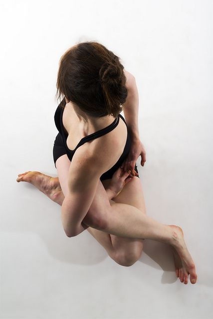 yoga twist from above