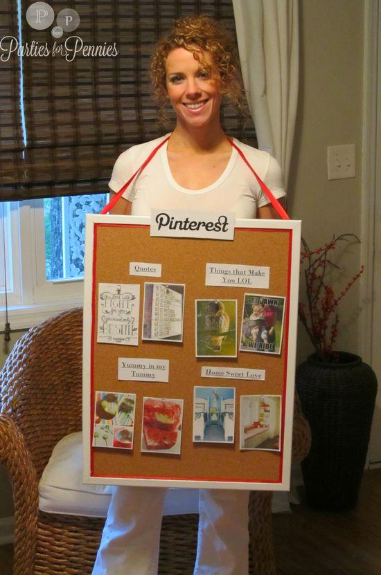 A Human Pinterest Board – Halloween Costume Idea