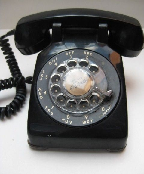 Rotary dial phone.