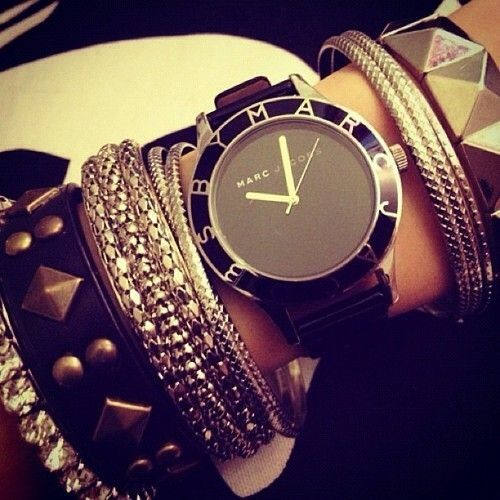 Marc by Marc Jacobs Black Patent Blade watch