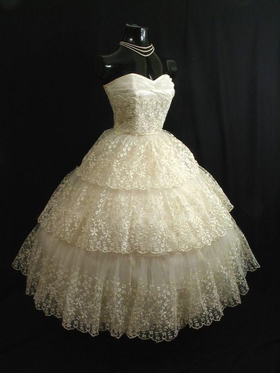1950s lace dress
